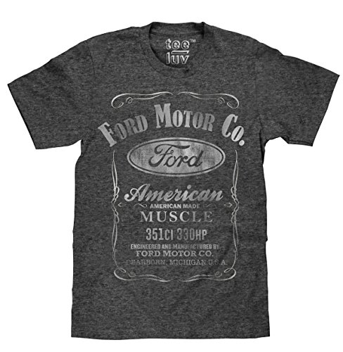 """Ford Motor Co. American Made Muscle"" T-Shirt  Soft Touch Fabric-x-large Onyx"