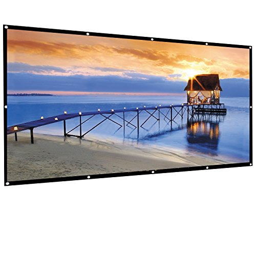 Famirosa Indoor Outdoor Portable HD Home Theater Projector Movie Screen,100 inch 120 inch 16:9 Portable Folding Projection Screen High Brightness, Suitable for HDTV/Sports/Movies/Presentations 120' Projector