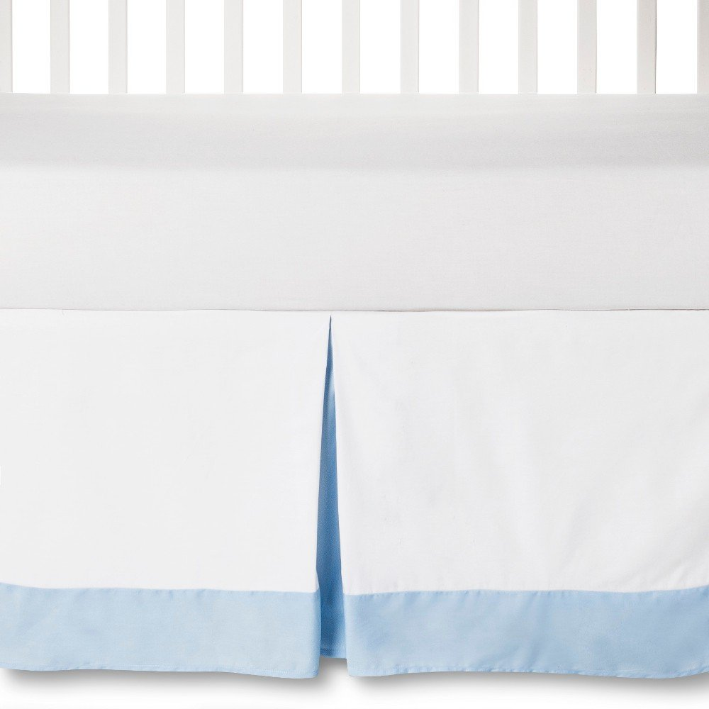 Circo Craft 100% Cotton Pleated Baby Crib Bed Skirt (Blue & White)