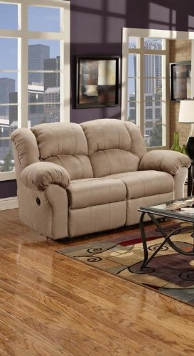 Chelsea Home Furniture Ambrose Reclining Loveseat, Sensations Camel