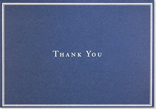Navy Blue Thank You Notes (Stationery, Note Cards, Boxed Cards) (Stationery You Thank)
