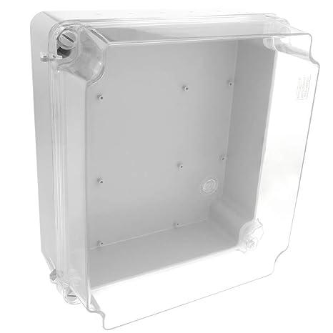 BeMatik - Caja de Conexiones eléctricas de plástico ABS Impermeable IP65 Transparente 300x250x145mm