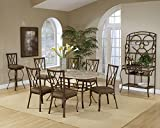 Brookside Rectangular Dining Table Set w Fossil Stone Table Top