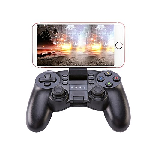 Pc Gaming Joysticks (KINGAR Bluetooth Game Controller, PC Gamepad Joystick With Vibration Feedback for Android Phone/ IOS/ PC/ PlayStation 3)