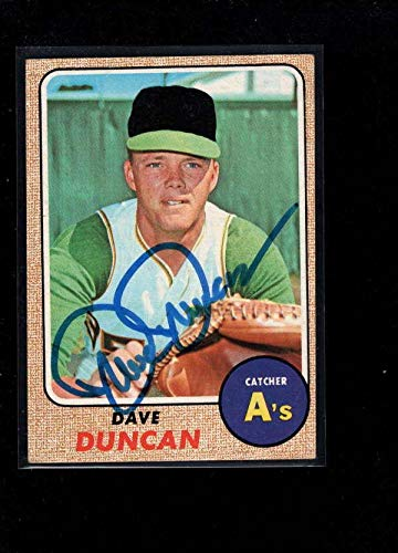 1968 Topps #261 Dave Duncan Authentic On Card Autograph Signature Ax6925 - Baseball Slabbed Autographed Cards ()