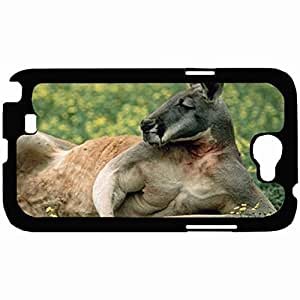 New Style Customized Back Cover Case For Samsung Galaxy Note 2 Hardshell Case, Back Cover Design Kangaroo Personalized Unique Case For Samsung Note 2