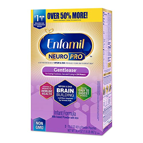 Enfamil NeuroPro Gentlease Infant Formula - Clinically Proven to reduce fussiness, gas, crying in 24 hours - Brain Building Nutrition Inspired by breast milk - Powder Refill Box, 30.4 oz by Enfamil (Image #11)