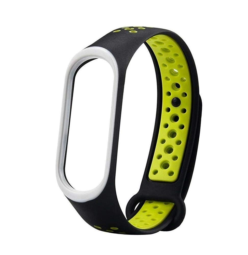 Amazon price history for 7Q7 - Green Under Black (Double Color) Strap for Xiaomi Mi Band 4 Band - Mi Band 3 Waterproof Soft Silicone Wrist Band Bracelet for Xiaomi Mi Band 4 and Mi Band 3 (Green Under Black) Double Color