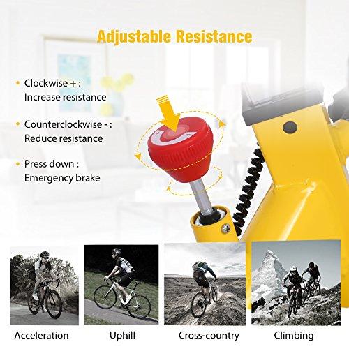ANCHEER Indoor Cycling Bike, Belt Drive Indoor Exercise Bike with 49LBS Flywheel (Yellow) by ANCHEER (Image #3)