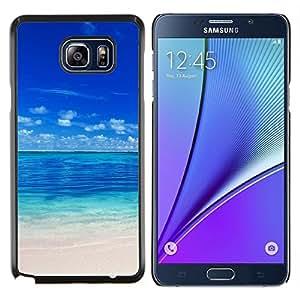 KLONGSHOP // Cubierta de piel con cierre a presión Shell trasero duro de goma Protección Caso - Maldivas - Samsung Galaxy Note 5 5th N9200 //