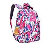 Camouflage Backpacks for Elementary School Boys and Girls Casual Daypack Travel Backpack Bookbag (Pink) For Sale
