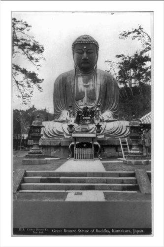 Historic Print (L): Great bronze statue of Buddha, Kamakura, Japan