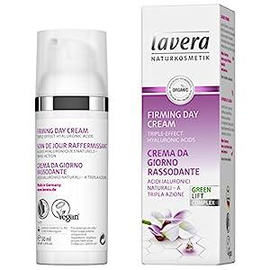 lavera Crème de jour raffermissante Karanja ✔ Anti-âge ✔ Acide hyaluronique ✔ Hydrate et réduit les rides ✔ Vegan ✔ Soin…
