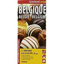 BELGIQUE  1/300.000 (COMFORT !MAP LAMINEE)