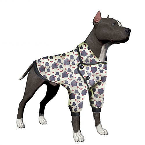 LovinPet Dog Sweater For Big Dog Clothes Soft Dog Pajamas For Pitbull Labrador Retriever Boxer Large Dogs (Please Read (Dog Sweaters Big Dogs)
