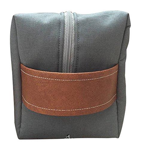 Mens Gray Toiletry Bag