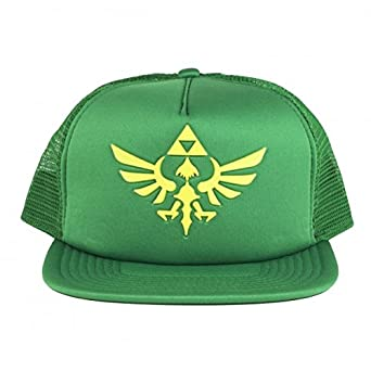 4c872977f159b Image Unavailable. Image not available for. Color  Nintendo Legend of Zelda  Logo Green Mesh Trucker Hat One Size