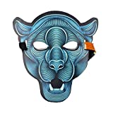 Sound Reactive Mask Glowing Mask Flash to Music for Party Halloween Costume DJ Nightclub Cosplay Panther