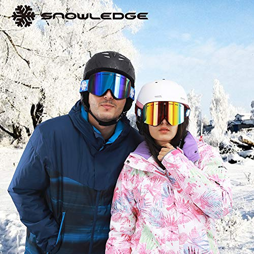 64ed3d6aaeeb Snowledge Ski Goggles Womens with Frameless Interchangeable Lens ...