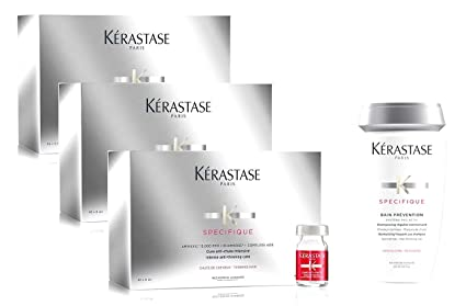 "- Kerastase - Tratamiento específico anticaída + Champú preventivo anticaída ""Bain Prevention"" (envase de 250 ml)"