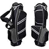 Nitro Lightweight Stand Golf Bag, Black/Silver