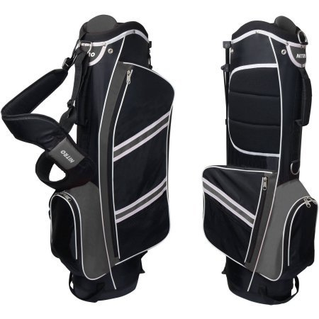Nitro Lightweight Stand Golf Bag, Black/Silver by Nitro