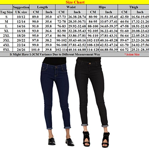 Boyfriend Women Slim Pencil Taille Grande Black Skinny Pantalon Zhhlaixing Fashion XXXXXL Trousers Femme Jeans Black Fit z4nw0CBqC