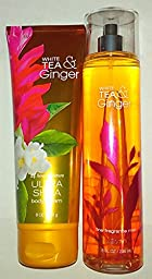 Bath & Body Works White Tea & Ginger Ultra Shea Body Cream & Fine Fragrance Mist