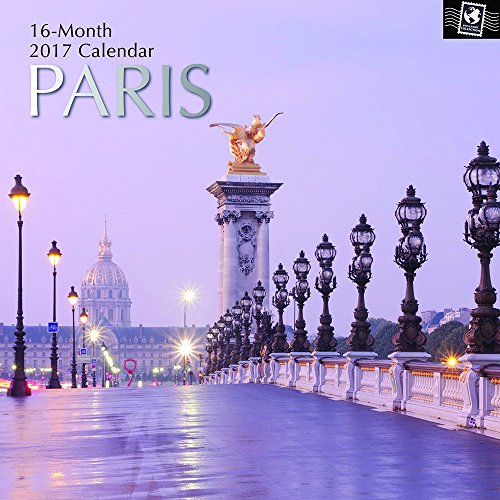 """Beautiful Sights, Landmarks, Monuments, & Cathedrals of Paris France 2017 Monthly Wall Calendar, 12"""" x 12"""""""