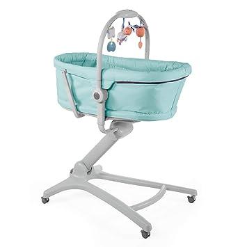 Chicco Baby Hug 4en1 - Sistema multifunción: moisés, hamaca, trona y silla, regulable en altura, color azul turquesa (Aquarelle)