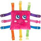 """BUCKLE TOY """"Bella"""" – Toddler Early Learning Basic Life Skills Children's Plush Travel Activity"""