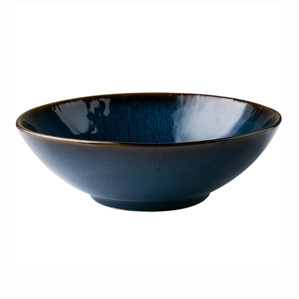 Rice Bowls Ramen Bowl Soup Bowl Bowl Japanese Style Blue Ceramic Fruit Salad Bowl Home Big Bowl Food Bowl 8 inches