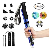 """Best Hiking Poles - NIANYISO Hiking Poles Collapsible Lightweight for Height 5'3""""-6'3"""" Review"""
