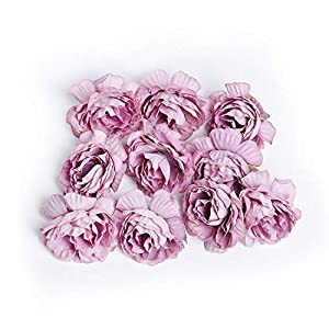vibe-pleasure 10pcs/lot Artificial Flower 5cm Silk Rose Flower Head Wedding Party Home Decoration DIY Wreath Scrapbook Craft Fake Flower 97