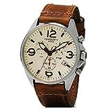 Torgoen T16 Cream Swiss Chronograph Pilot Watch - 44mm Dial - Vintage...