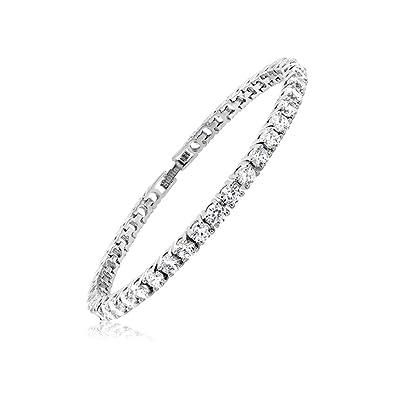 Amazon.com: Cubic Zirconia Classic Tennis Bracelet-8 Inch: Jewelry