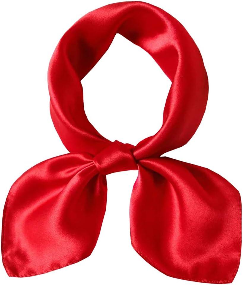 LDCSA Seidenschal Quadratisch Seidentuch Damen 100/% Seide Halstuch Geschenk f/ür Frauen 53X53cm Rot MEHRWEG