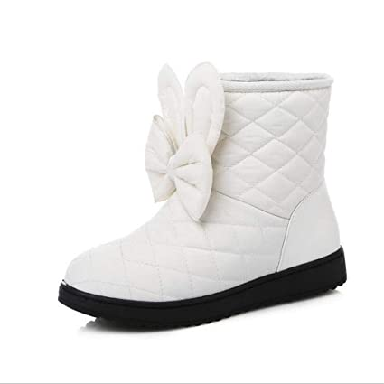 fa7e7bfb5f0c4 Amazon.com: Hy Women's Booties Winter Artificial PU Flat Warm ...