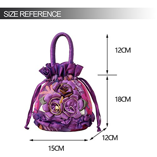 Womens Bags Phone Coin Cash Purses Key Ladies Handbag Money Purple Bag Pouches Bucket Drawstring 6r6Sq