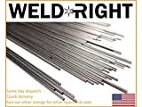 Weld Right Stainless Steel ER316L SS Tig Filler Welding Rods - 1/16's - 1.6mm x 10-100 Qty - 13 inches in length