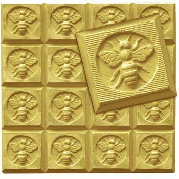 Milky Way Honeybee Guest Soap Mold Tray - Melt and Pour - Cold Process - Clear PVC - Not Silicone - MW 105