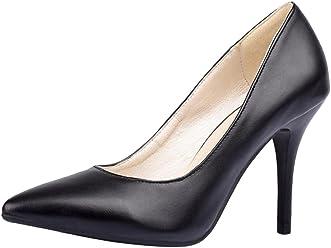9b329dea104c6d COOLCEPT Women Stiletto Pumps Thin High Heel Office Dress Shoes