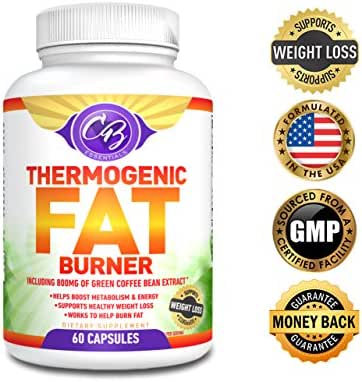 Best Thermogenic Fat Burner Weight Loss Pills Garcinia Cambogia Green Tea Extract Raspberry Ketones 800mg Green Coffee Bean Extract for Weight Loss Belly Fat Burners Supplement Lose Fast CB Essentials