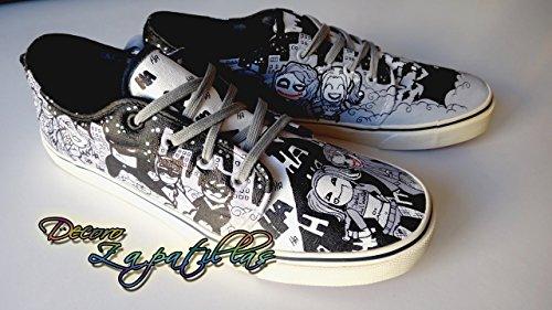 Zapatillas customizadas personalizados lona Batman, regalos para cumpleaños - celebraciones - regalos hombre - regalos mujer - San Valentin: Amazon.es: ...