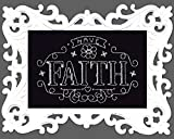 Design Works Have Faith 14-Count Black Aida with White Plastic Frame Cross Stitch Kit, Multi-Colour by Design Works