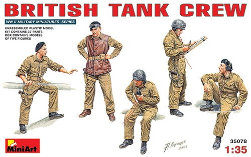 Mini Art Plastics British Tank Crew, used for sale  Delivered anywhere in USA