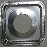 michealvkwam 100 Pcs Disposable Square Aluminum Foil Gas Burner Stove Covers