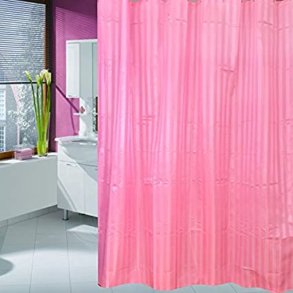 Image Unavailable Not Available For Color ALDECOR Vertical Pinstripe Fabric Shower Curtain