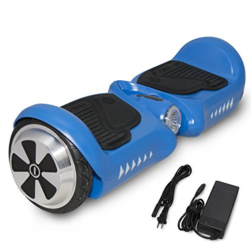 "SURFUS JUNIOR 4.5"" Waterproof Hoverboard with Matte UL 2272 Certified Self-Balancing Scooter with LED lights, Blue"