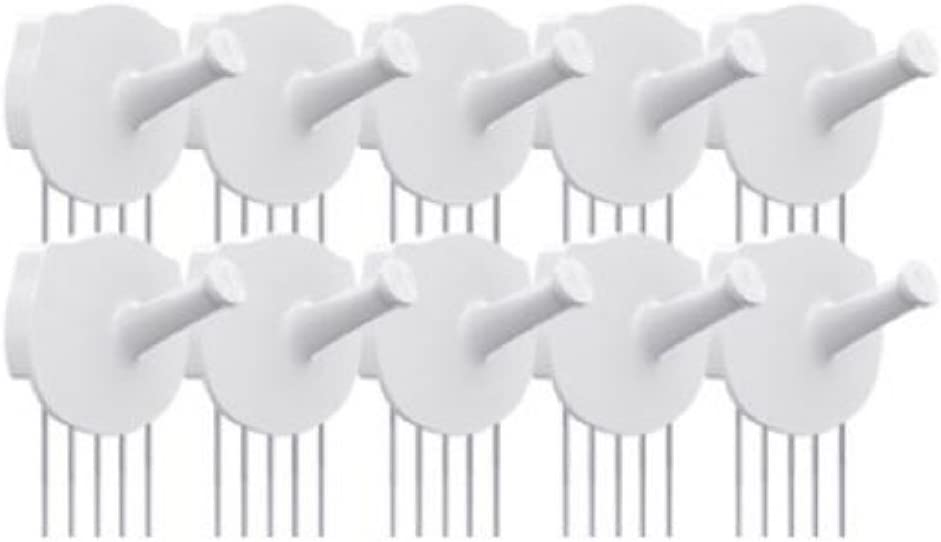 HOTLISTOR Reusable Multipurpose Piggy Cubicle Wall Hooks 5PCS 10PCS Decorative Pin Stick Hooks Office Partition Panel Hanger Home Kitchen